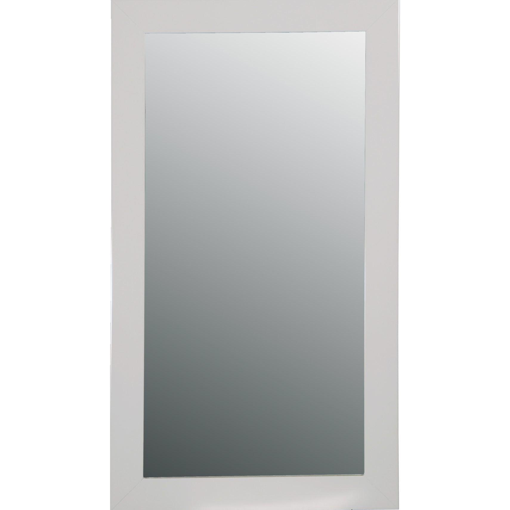Spejl hvid 40x120 cm