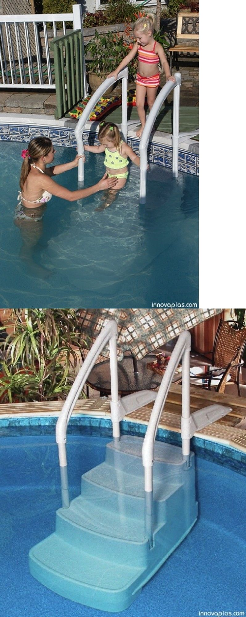 Pool Ladders And Steps 167847 Innovaplas Fiesta Above Ground Swimming Pool Step 48 54 Wall Height Above Ground Swimming Pools Pool Steps Swimming Pool Steps