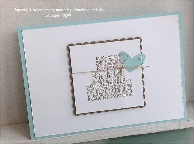 Hochzeitskarte selbst gemacht