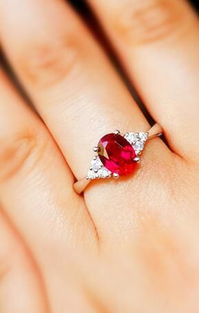 Affordable Simple Style Synthetic Ruby Promise Ring Wedding Ring Engagement Ring For Her Silver Engagement Rings White Topaz Engagement Ring Ruby Wedding Rings