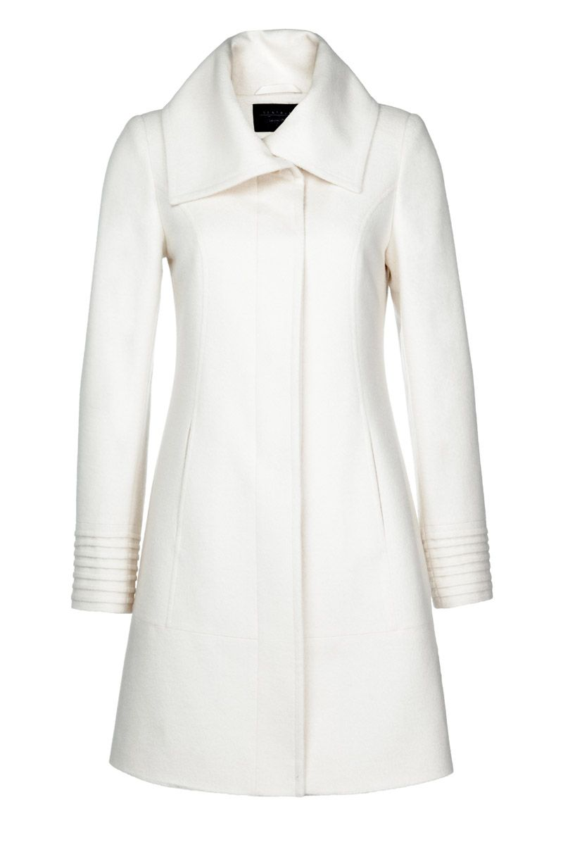 Fitted Coat with Large Collar | Sentaler Luxury Designer Outerwear ...