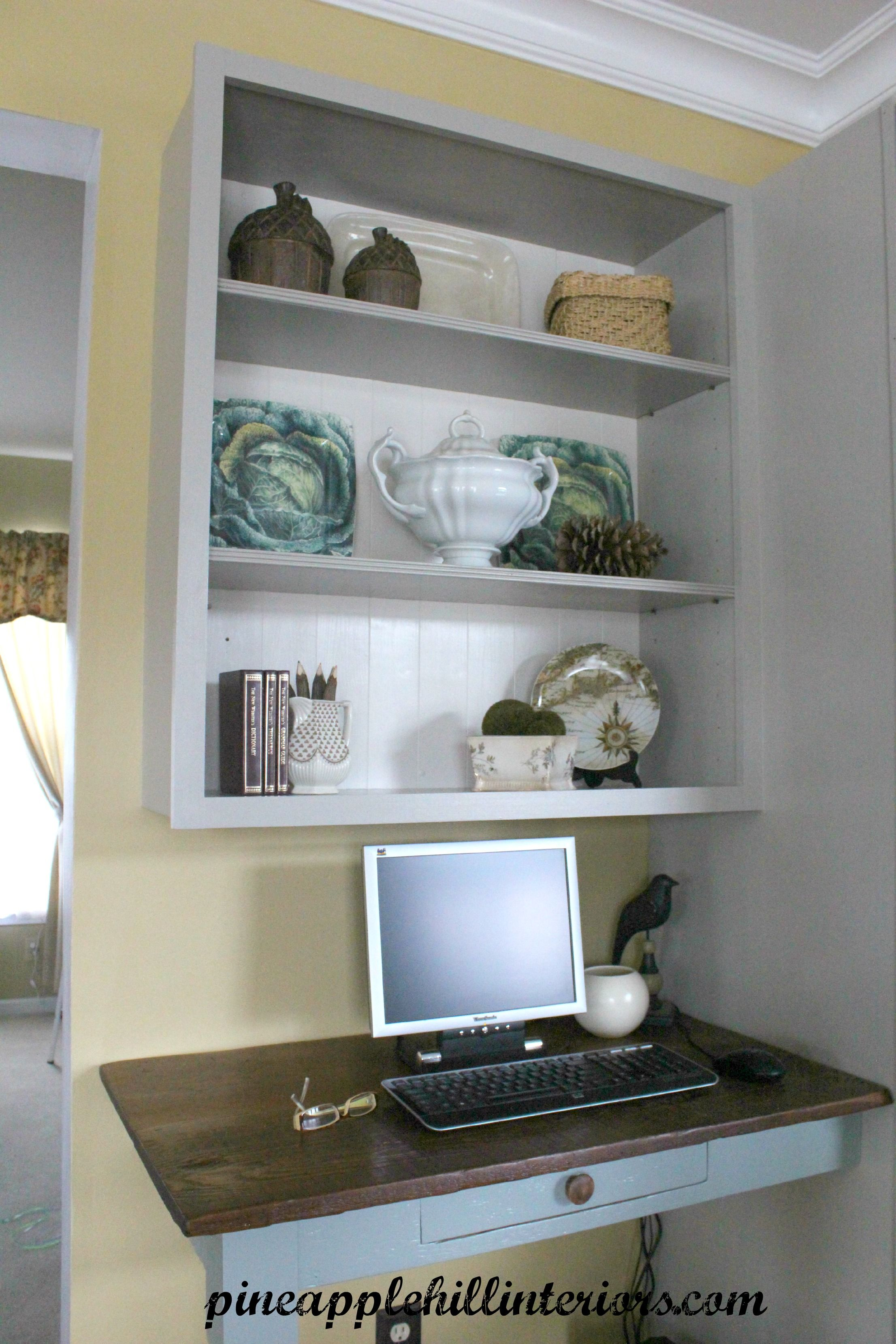 how to make a kitchen desk out of old barn siding | New ...