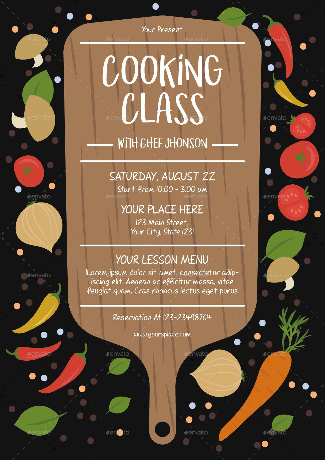 cooking class flyer template diy and crafts pinterest cooking