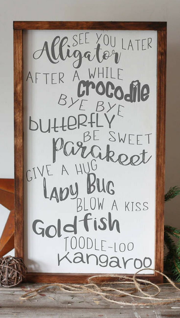 See you later alligator sign nursery childrenus room wall decor