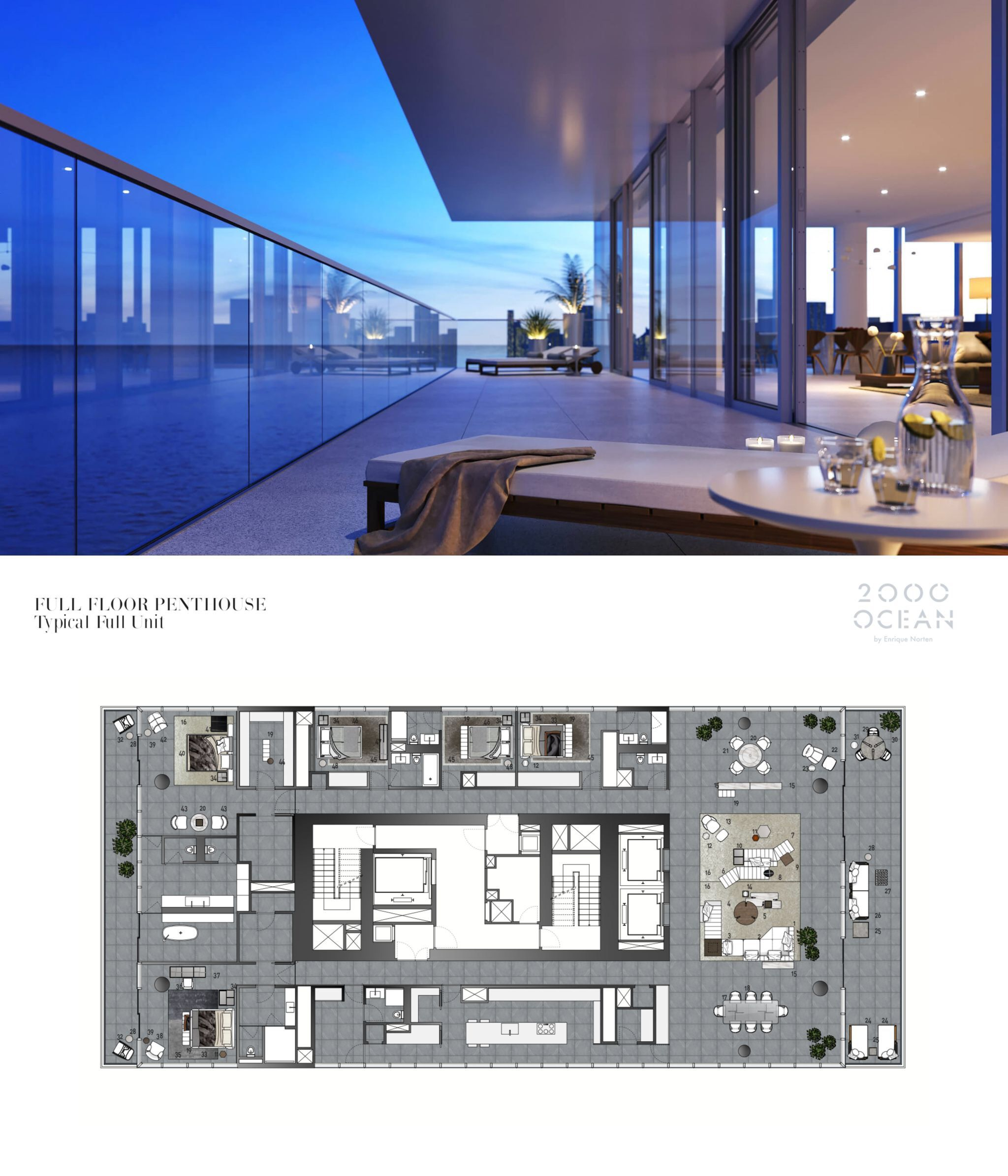 New Condos And Apartments Rise Up Around: 2000 Ocean, Hallandale Beach, FL Full Floor Penthouse