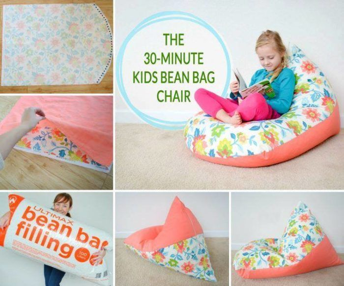 Awesome Diy Beanbags For Kids That They Will Love Diy Bean Bag Kids Bean Bags Diy Pillow Mattress