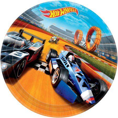"""Hot Wheels Wild Racer 9"""" Luncheon Plates (8 Count) - Walmart.com"""