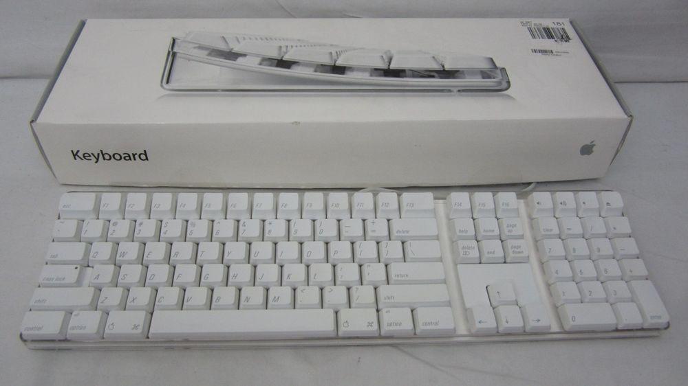 genuine oem apple mac wired usb keyboard a1048 apple available on ebay apple mac keyboard. Black Bedroom Furniture Sets. Home Design Ideas