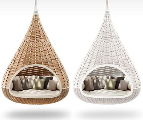Awesome Woven Hanging Lounger Nestrest Furniture