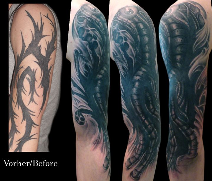 Tribal Coverup By Anderstattoo D4nopxv Jpg 719 614 Cover Up Tattoos Tattoo Sleeve Cover Up Tribal Cover Up