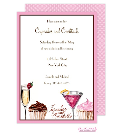 Cupcakes cocktails invitation party cupcakes bonnie marcus informal parties cupcakes cocktails invitation the printswell store stopboris Gallery