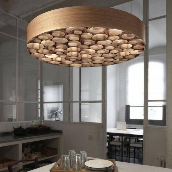 Wohnzimmer lampen rustikal  rustikaler Kronleuchter-Holz Wohnideen Design | diy lamps ...