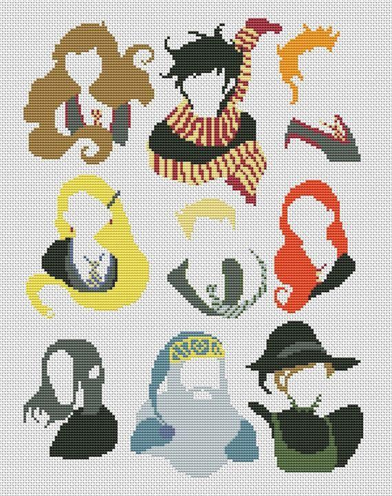 Photo of Harry Potter cross stitch pattern pdf sampler cross stitch pattern modern cross stitch pattern minimalist cross stitch BUY 2 GET 1 FREE