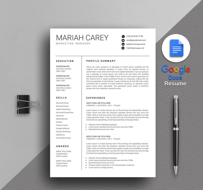 20+ Google Docs Resume Templates [Download Now] in 2020
