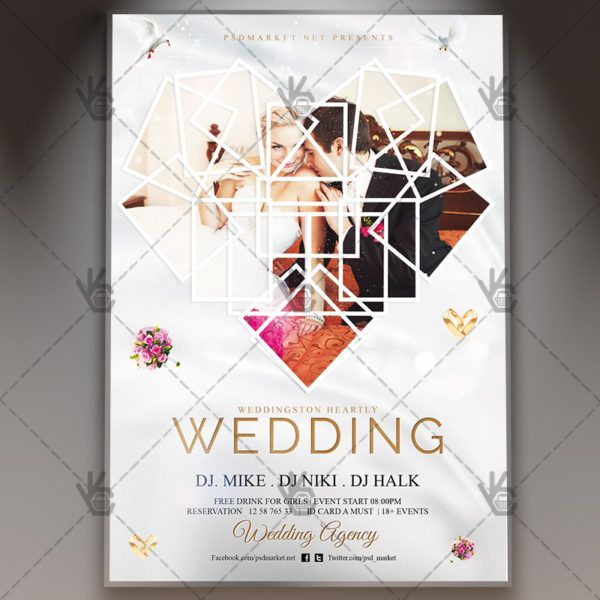 Wedding u2013 Premium Flyer PSD Template #marketing #marriage - wedding flyer