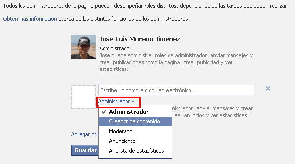 Niveles de administración en las paginas de seguidores de Facebook | Jose Luis Moreno Jimenez