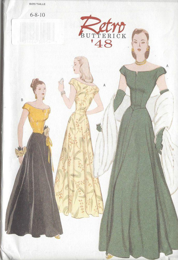 1948 Vintage Sewing Pattern DRESS B30 1/2\
