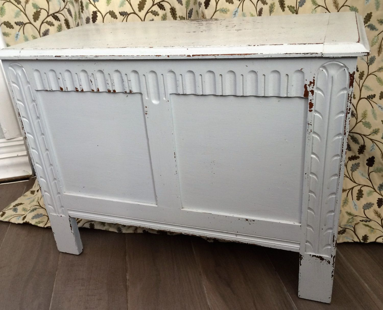 Dove Grey Shabby Chic Blanket Box Toy Box Storage Chest by berryandgrouse on Etsy