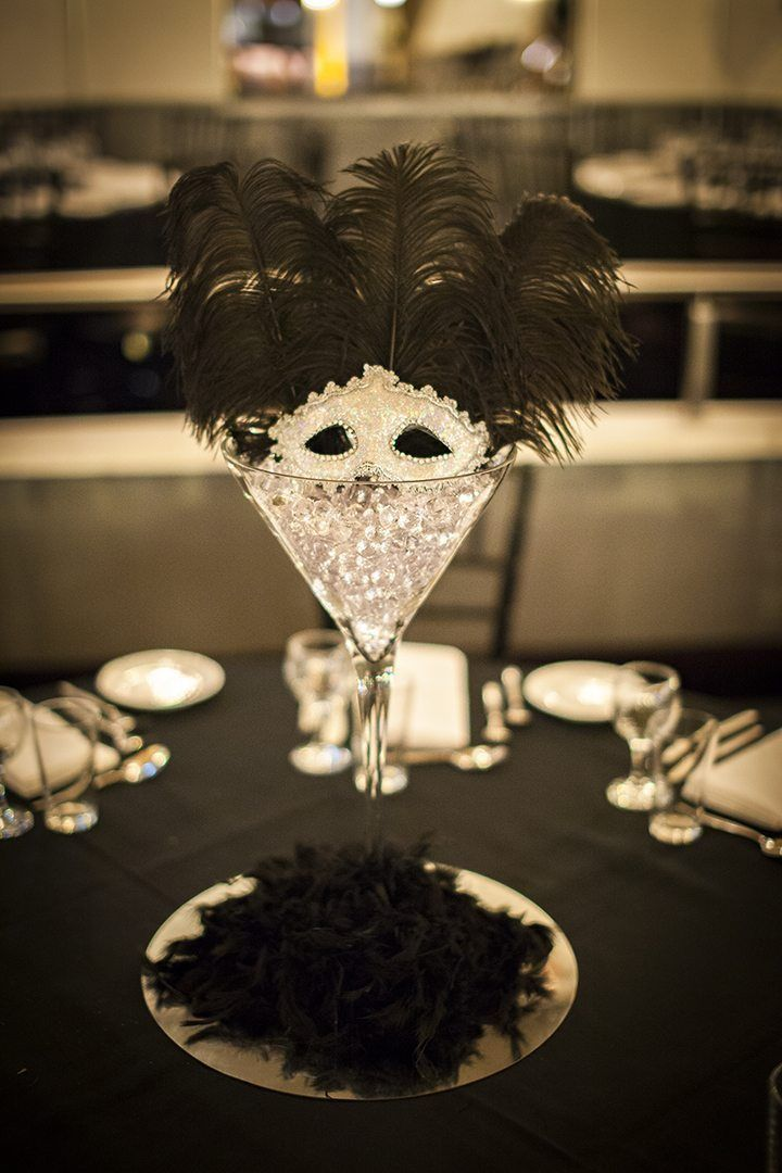 Masquerade Centrepiece Martini Glass In 2020