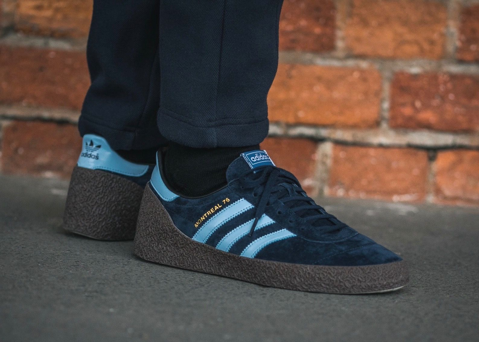 Montreal 76 Suede And Leather Sneakers adidas Originals qdPKT