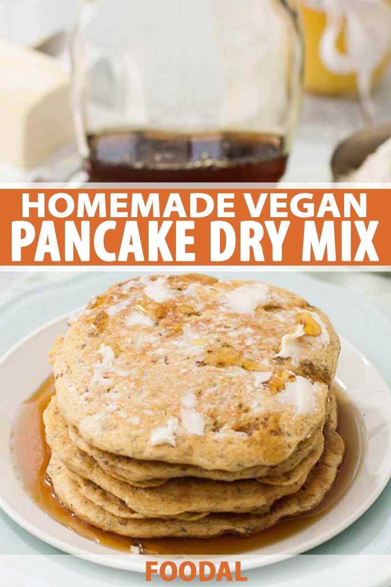 Vegan pancakes with homemade dry mix receita pinterest ccuart Choice Image