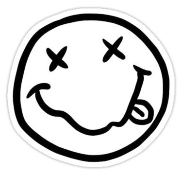 Nirvana Nevermind Sticker By Amiemclellan In 2020 Black And White Stickers Black Stickers Aesthetic Stickers