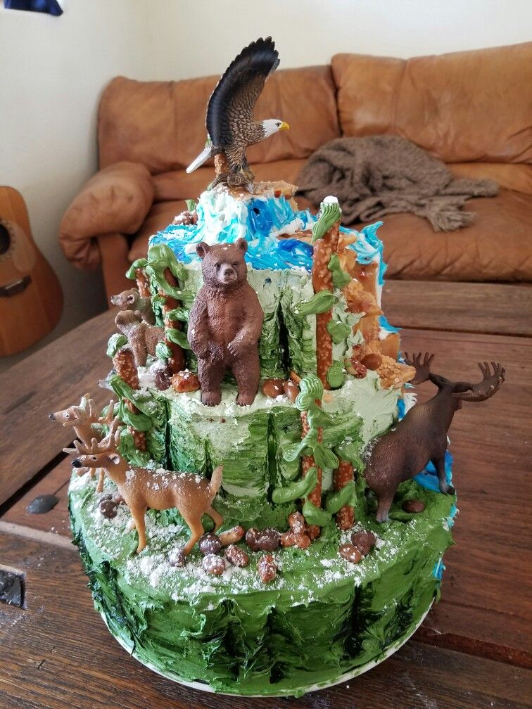 Cool Bass Pro Shop Wildlife Birthday Cake Custom Cakes Cake Funny Birthday Cards Online Benoljebrpdamsfinfo