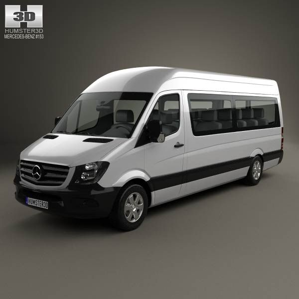 Mercedes Benz Sprinter Passenger Van Lwb Hr 2013 3d Model From