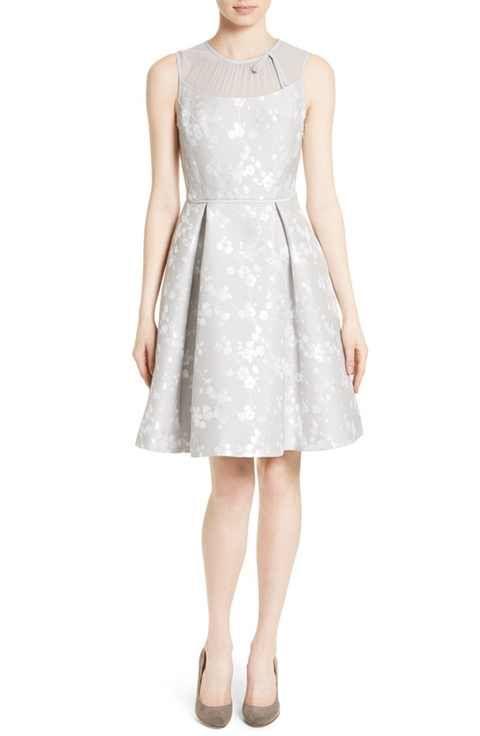 80b03d0a732 Ted Baker London Alimi Chiffon Yoke Fit   Flare Dress