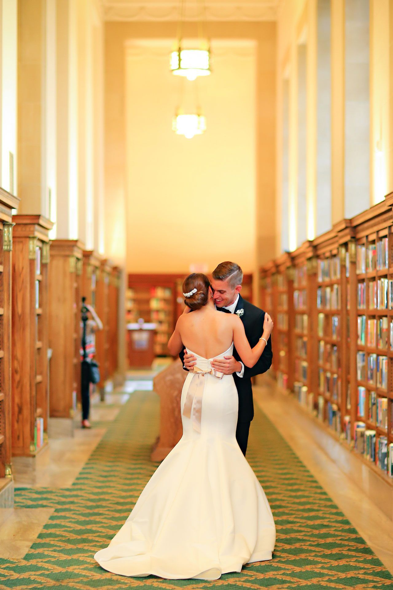 Christine Ryan Jessica Strickland International Fine Art And Wedding Photojournalist Library Wedding Wedding Indianapolis Library