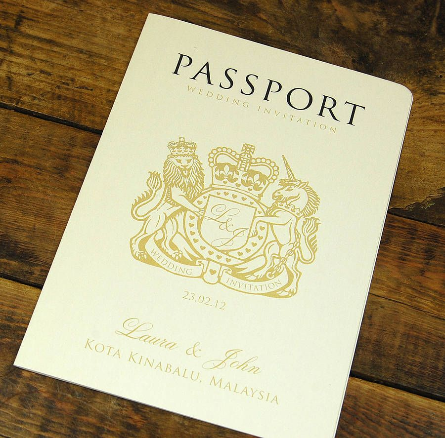 17 Best images about New Create – Passport Wedding Invites