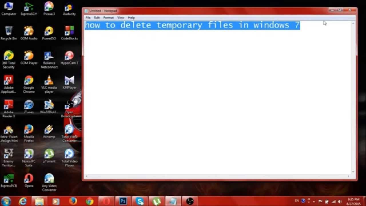 how to delete temporary files in windows 7 (With images