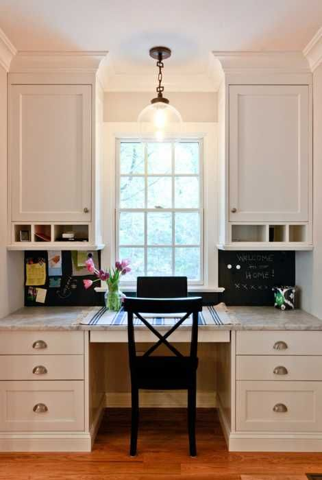 Creative Interior Decorating Ideas 48 Black Chalkboard Paint Delectable Built In Home Office Furniture Creative Interior