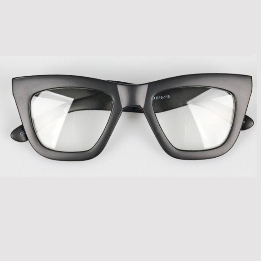 08d4a70e699 AYF Bold Horn Square Frame Eyeglasses Men Women Fashion Glasses Unique  Eyewear  AYF