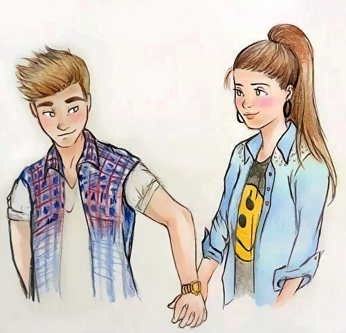 All Justin bieber couple cartoon me, please