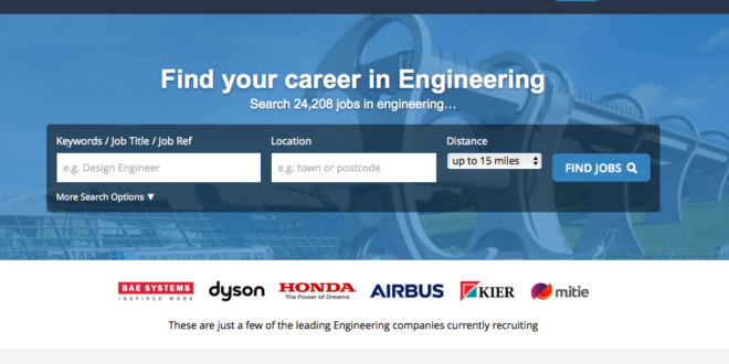 Engineering job site relaunched Engineering jobs