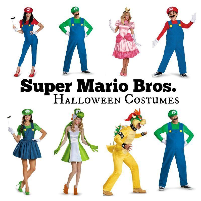 Adult Mario and Luigi Costumes Super Mario Bros Halloween Fancy Dress