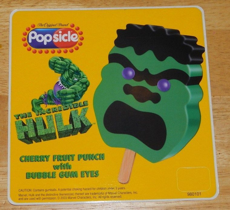Good Humor Ice Cream Truck Sticker Incredible Hulk Popsicle 2003