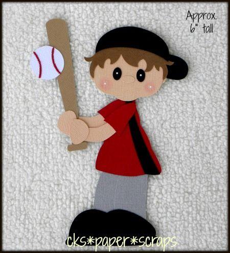 Baseball Player Sports Boy Scrapbook Paper Piecing Scrapbook