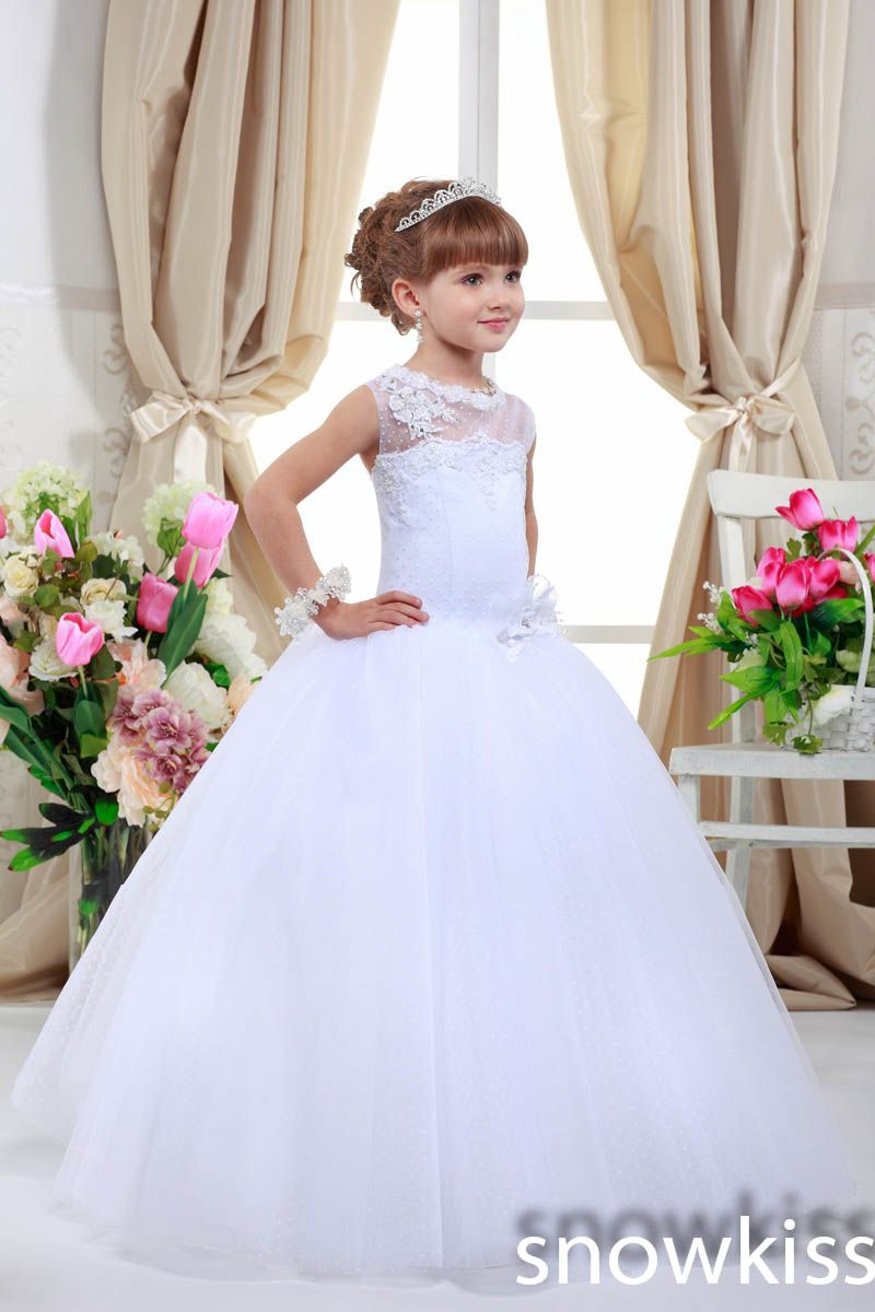 Click to buy ucuc whiteivory sheer lace appliques ball gown long