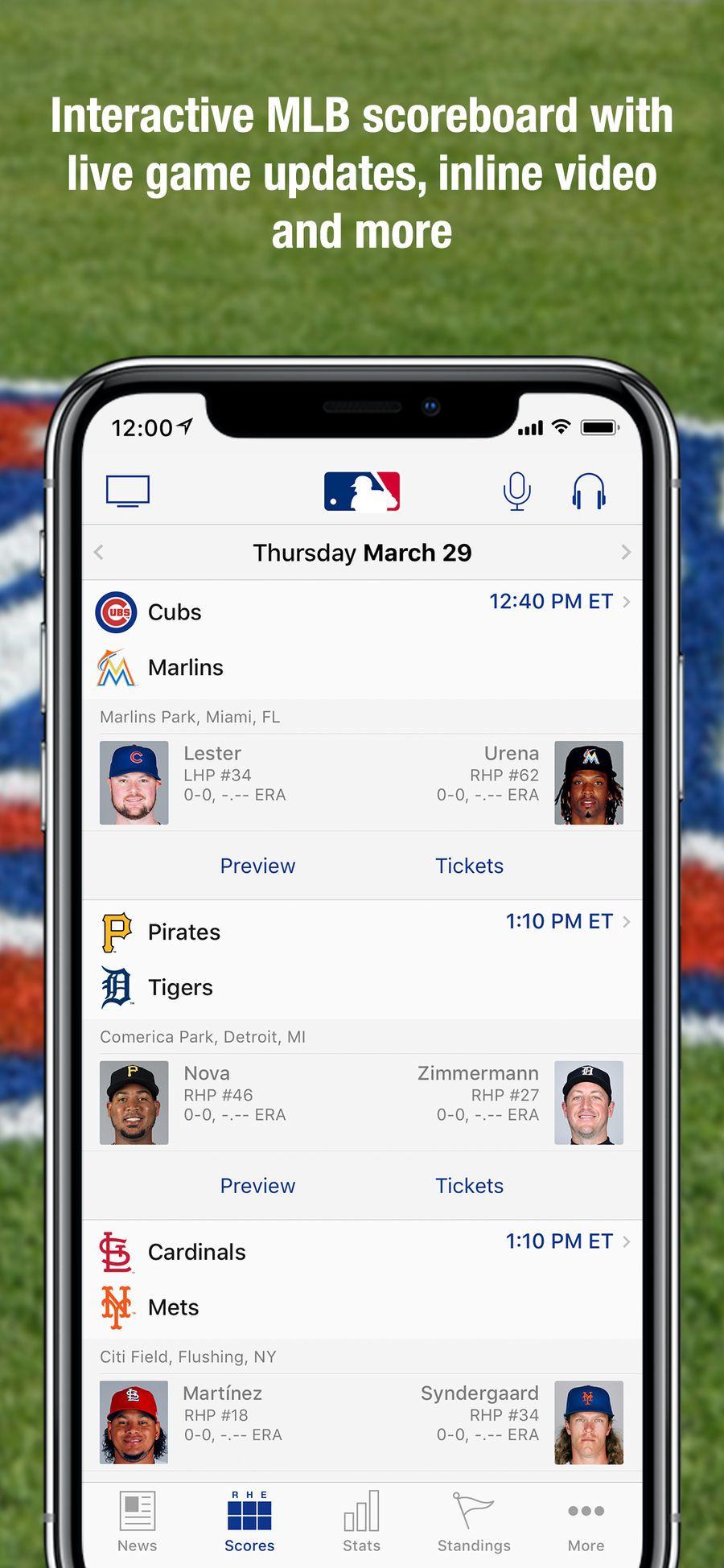 Mlb At Bat Ios Apps App Entertainment Game Update Mlb Game Design