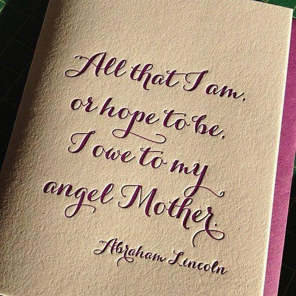 Thank you mama....xo