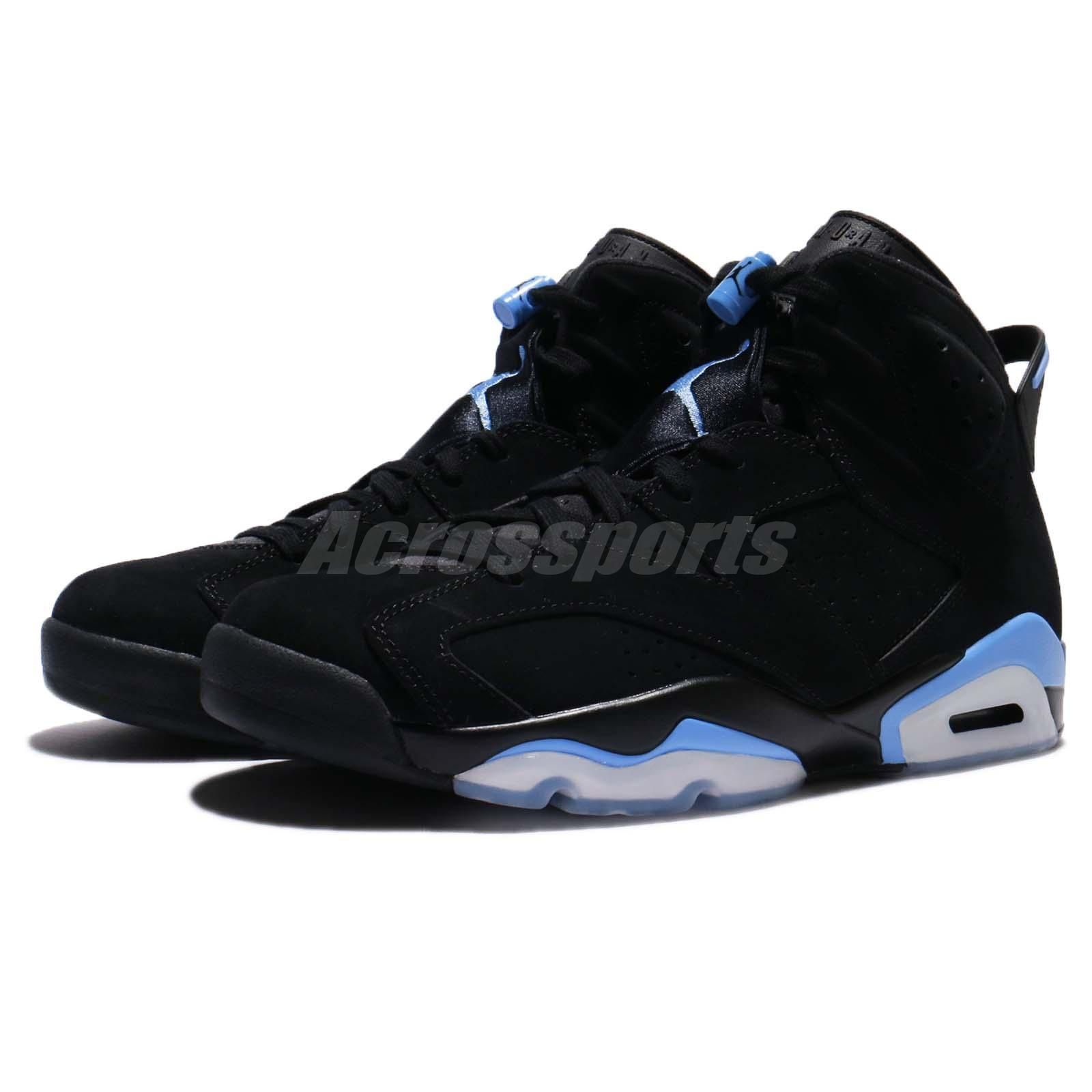 sports shoes 4ebf4 d1da7 Nike Air Jordan 6 Retro VI UNC University Blue Black AJ6 Shoes Men  384664-006 S N  384664006 Color  BLACK UNIVERSITY BLUE Made In   Condition  Brand New ...