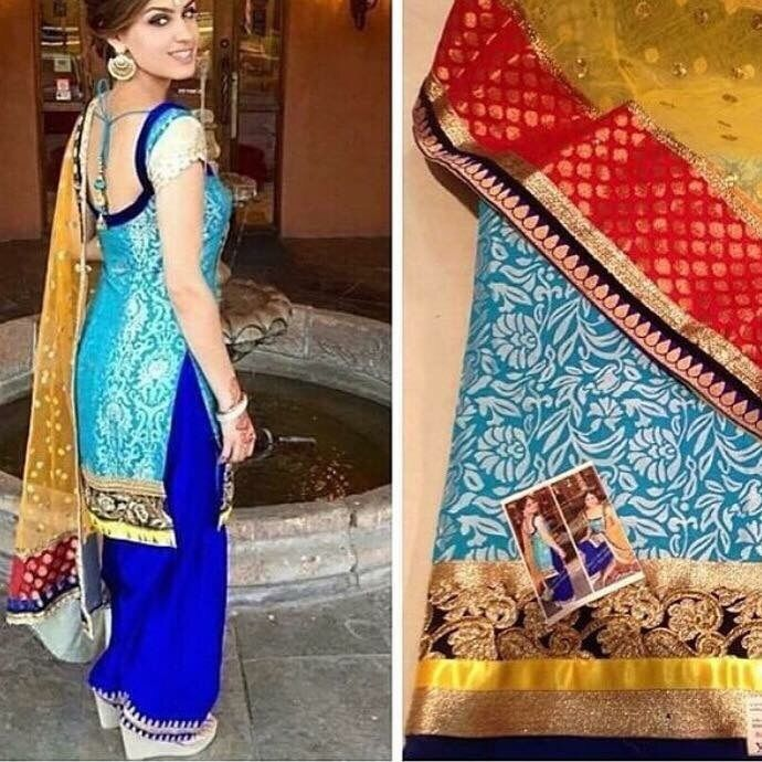 e34223e6e9 Punjabi Patiala Bollywood Designer Indian Embroidery SALWAR KAMEEZ latest  suit #Handmade #SalwarKameez