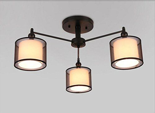 Plafoniere Retro : Retro ferro art testa led plafoniera lampadario cre