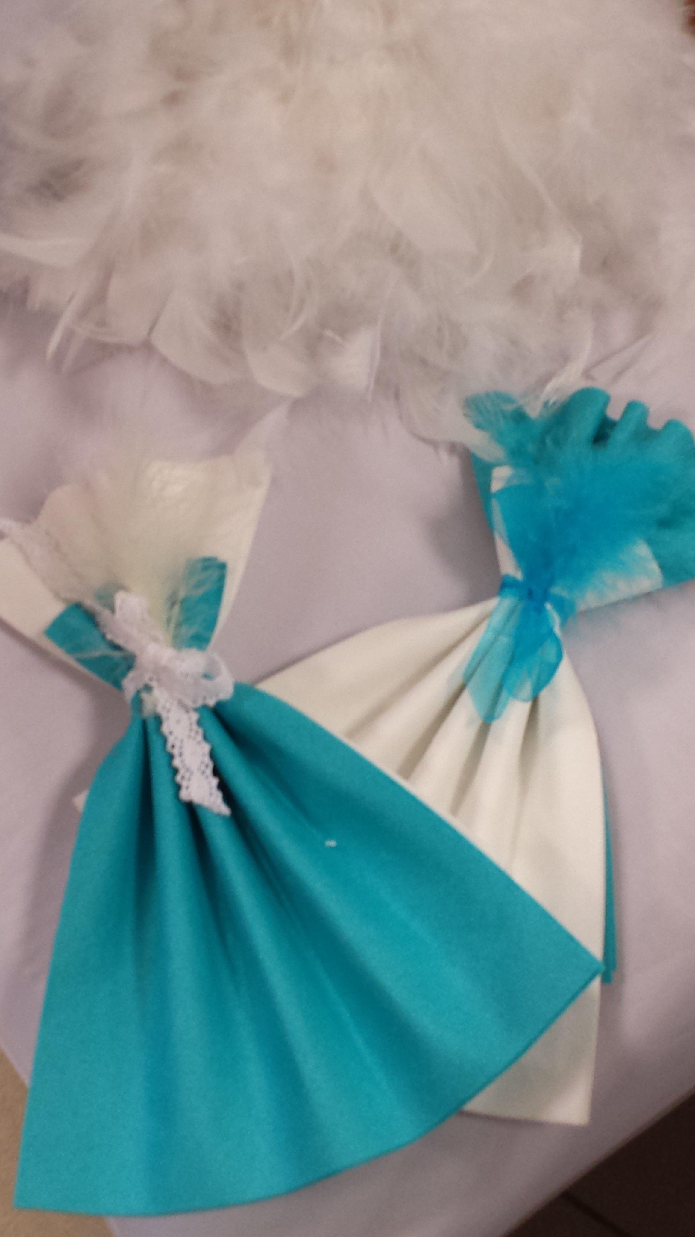 chic et charme pour ces robes de princesse pliage de serviettes par inoubliable pinterest. Black Bedroom Furniture Sets. Home Design Ideas