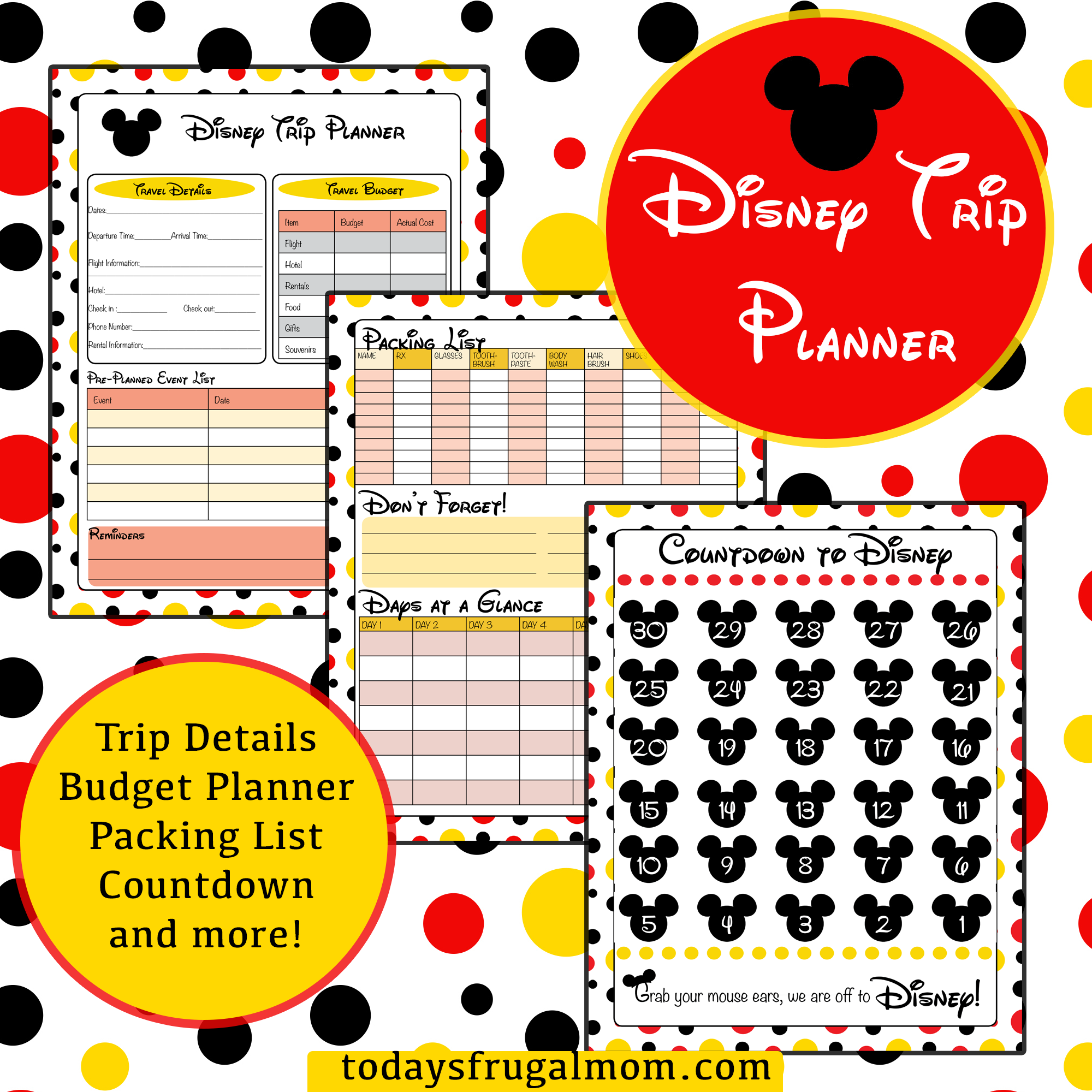 FREE Disney Trip Planner  Vacation planner Disney