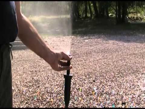 How To Adjust Rainbird 1804 Spray Sprinkler Head Nozzles Youtube Sprinkler Sprinkler System Sprinkler Heads
