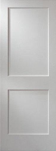 2 Flat Panel Primed Mission Shaker Stile Rail Solid Core Mdf Doors Door Slabs Wood Doors Interior Doors Interior Mdf Doors