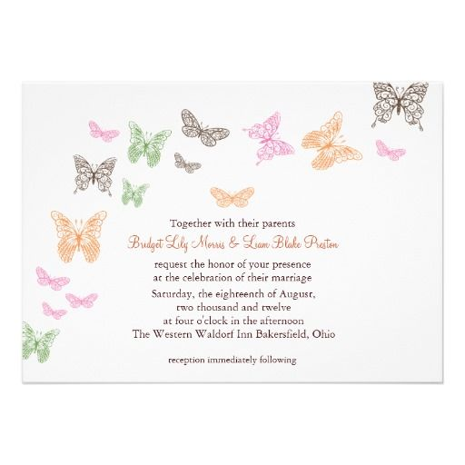 Butterfly Kisses Wedding Invitation Zazzle Com Wedding Kiss Butterfly Invitations Wedding Invitations